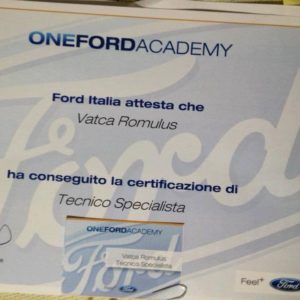 certificare ford service